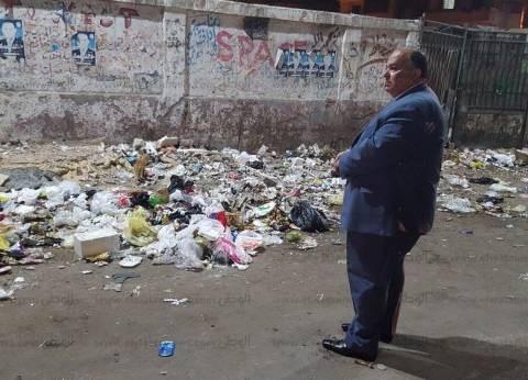 """في جولة مفاجئة.. محافظ الدقهلية يكتشف انسداد باب حديقة الحيوان بـ""""القمامة"""""""