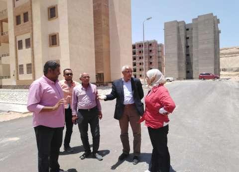 """""""المجتمعات العمرانية"""" تتابع مشروعات مدينة 15 مايو"""