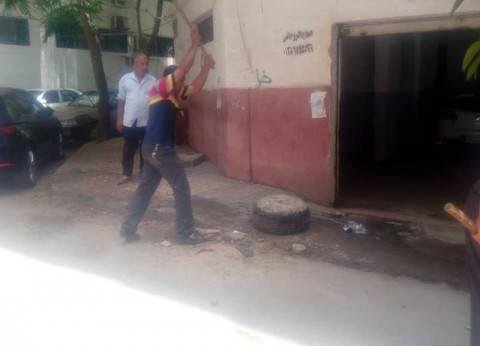 حي شرق بالإسكندرية يشن حملة لرفع الكتل الخرسانية والحواجز الحديدية