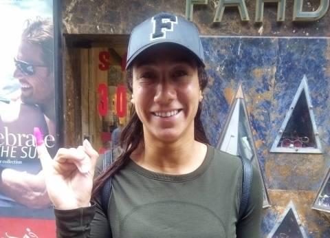 السباحة فريدة عثمان تدلي بصوتها في الزمالك: واجب وطني
