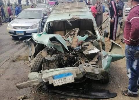 مصرع 2 وإصابة شخص في حادث تصادم بكفر الشيخ