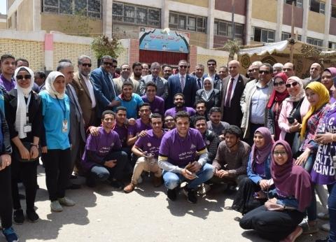 قيادات جامعة بنها يدلون بأصواتهم في الاستفتاء على تعديل الدستور