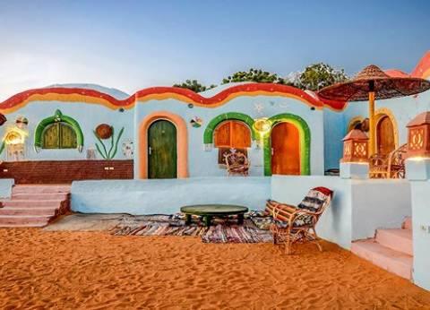 بالصور| بيوت النوبة.. كرنفال ألوان التراث