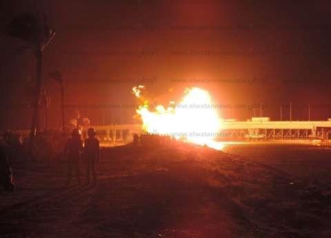 محافظ دمياط: سيطرنا على انفجار خط الغاز أمس في 7 دقائق