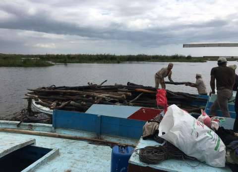 الأجهزة الأمنية بكفر الشيخ تشن حملة على الصيد المخالف ببحيرة البرلس