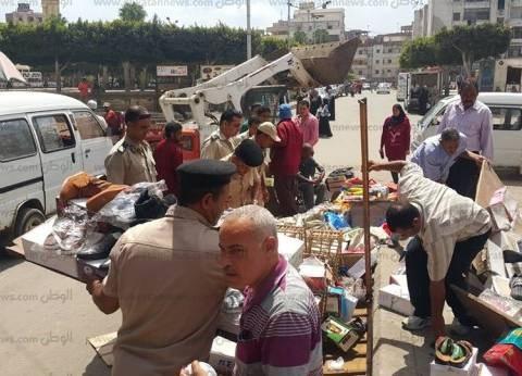 بالصور| حملة لرفع الإشغالات من شوارع دسوق بكفر الشيخ
