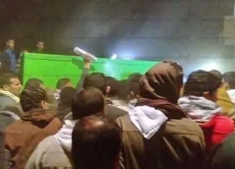 أهالي الشرقية يشيعون جثمان شهيد الشرطة ضحية تفجير كنيسة الإسكندرية