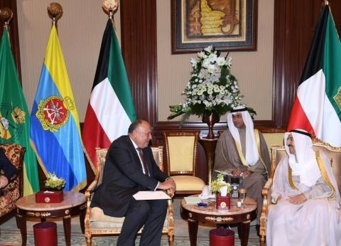 «شكري» ينقل دعوة «السيسي» إلى أمير الكويت لزيارة مصر
