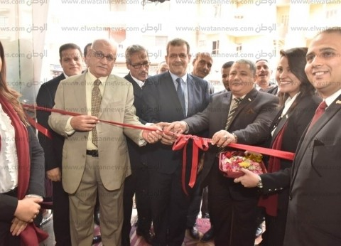 بالصور| سكرتير عام أسيوط يفتتح فرع بنك مصر في مركز أبنوب