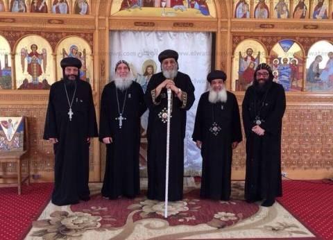 بالصور| البابا يلتقي سكرتارية المجمع المقدس ويتفقد مدرسة عيون مصر