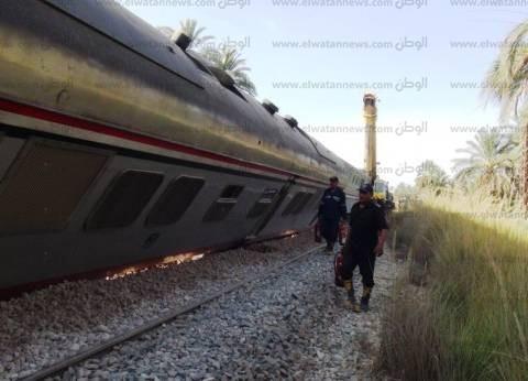 محافظ أسوان: شكلنا مركز عمليات ميداني بموقع حادث قطار 982