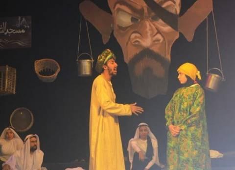 """""""اسطبل عنتر"""" و""""مجلس العدل"""" من آداء طلبة جامعة حلوان على مسرح العرائس"""