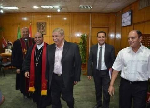 وفد الكنيسة الإنجيلية يلتقي محافظ الإسماعيلية لدعوته لإفطار جماعي