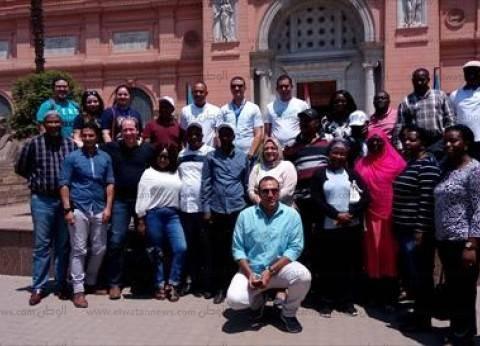 وفد البرلمان الإفريقي يزور المتحف المصري