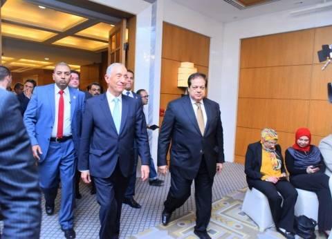 """""""أبوالعينين"""" لرئيس البرتغال: المناخ في مصر مهيأ لاستقبال الاستثمارات"""