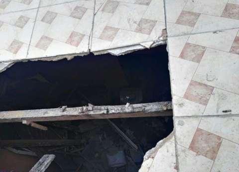 انهيار جزئي لعقار وسط الإسكندرية دون إصابات