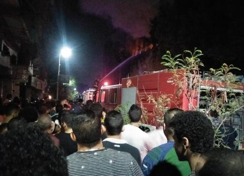 حريق في 8 ورش ومخازن أخشاب بالشرقية.. والدفع بـ21 سيارة إطفاء