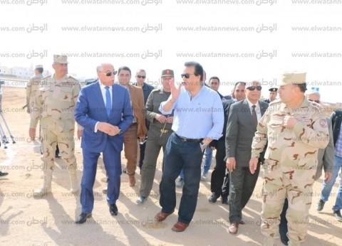 فودة وعبد الغفار يتفقدان أعمال إنشاءات فرع جامعة الملك سلمان بشرم