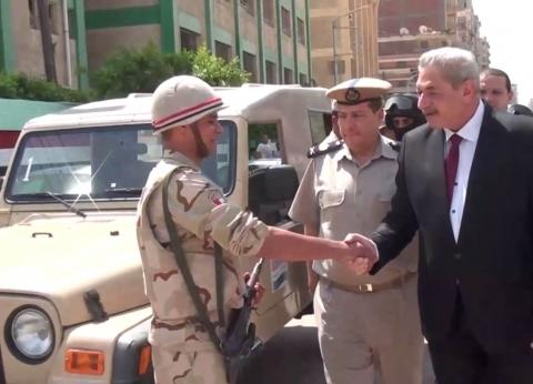بالصور| مدير أمن الدقهلية يتفقد الخدمات وتأمين المدارس والجامعات