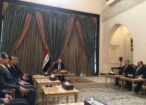 """الرئيس العراقي يستقبل """"محلب"""": نقدر دور """"السيسي"""" في استقرار المنطقة"""