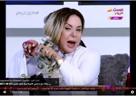 المذيعة منال أغا: قصيت شعري الحقيقي في البرنامج