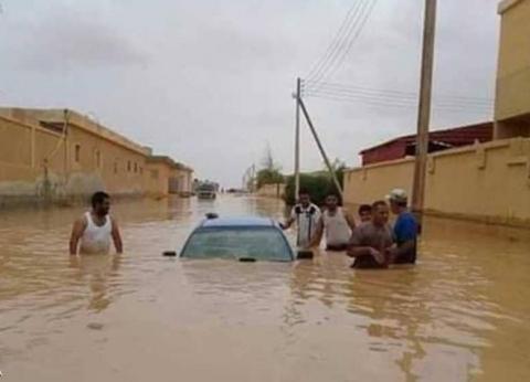 مصرع شخصين بسبب الأمطار الغزيرة في ليبيا.. وتهدم منازل في الجزائر