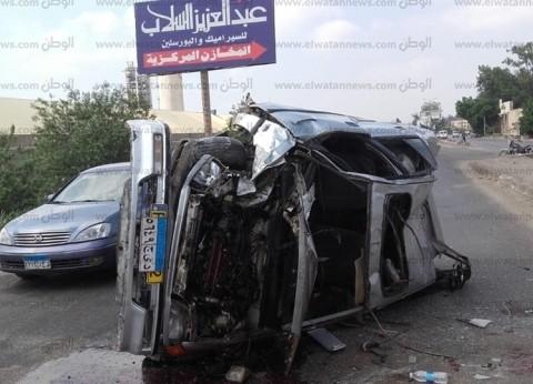 """عاجل.. 14 مصابا في انقلاب سيارة على طريق """"مطروح- إسكندرية"""""""