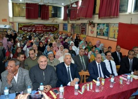سكرتير عام محافظة القليوبية يشهد احتفالية إدارة شبين القناطر التعليمية