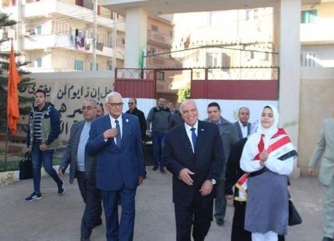 نقيب المعلمين يصل إلى كفر الشيخ لإطلاق مشروع زراعة الأشجار المثمرة