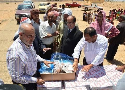 35 طن غذاء هدايا رئيس الجمهورية للقرى الأكثر احتياجا بمطروح فى رمضان