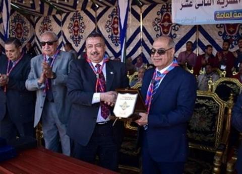 """رئيس جامعة كفر الشيخ يفتتح المهرجان الكشفي ضمن أسبوع """"شباب الجامعات"""""""