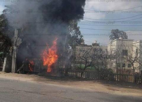 حريق في محول رئيسي بالدقهلية وانقطاع الكهرباء عن 3 قرى