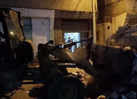 حملة نظافة ليلية مكبرة بشوارع مدينة عزبة البرج بدمياط