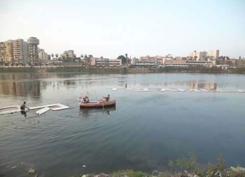 إزالة تعديات علي مساحة 11365 متر بنهر النيل في المنيا