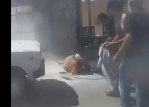 """""""الوطن"""" تنشر صورة المواطن الذي أشعل النار في نفسه بالإسكندرية"""
