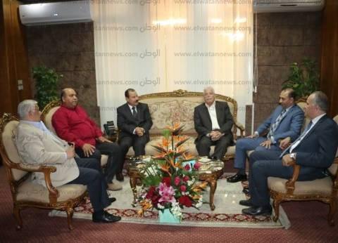 خالد فوده يهنئ اللواء أحمد أبو عقيل لتعيينه مديرا لأمن جنوب سيناء