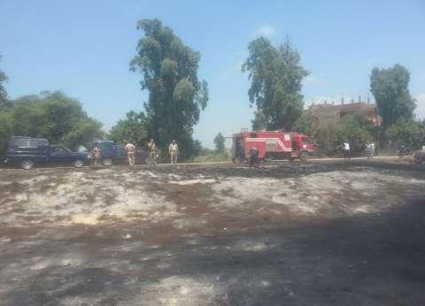 تحرير 16 محضرا في حملة لمواجهة ظاهرة حرق قش الأرز بكفرالشيخ