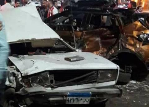 إصابة 4 أشخاص إثر حادث انقلاب سيارة بطريق الجلالة بالسويس
