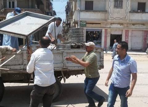 إزالة 89 مخالفة إشغال طريق في حملة مكبرة بكفرالدوار بالبحيرة
