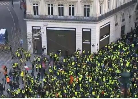 عاجل  مجموعات من اليسار المتطرف تشارك في التظاهرات الفرنسية