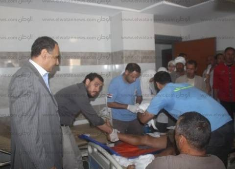 بالأسماء.. 25 مصابا في حادث تصادم سيارتين بكفر الشيخ