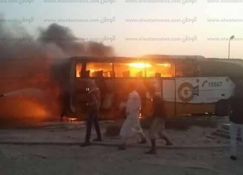 السيطرة على حريق في أتوبيس بالقرب من جامعة القاهرة