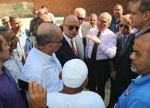 محافظ القاهرة يتفقد أعمال تطوير سوق سوهاج في مصر الجديدة