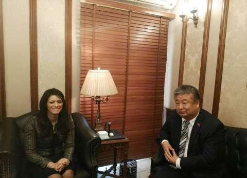 وزيرة السياحة تلتقي بالملحق الثقافي الصينى وتؤكد أهمية سوق بكين