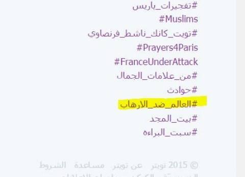 """هاشتاج """"العالم ضد الإرهاب"""" يجتاح """"تويتر"""".. ونشطاء: """"مواجهته مسؤولية دولية"""""""