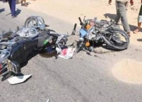 إصابة 4 أشخاص في حادث تصادم بين دارجتين ناريتين في الدقهلية
