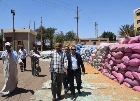 رئيس مركز أبوقرقاص يتفقد شون القمح ومجازر اللحوم في المنيا