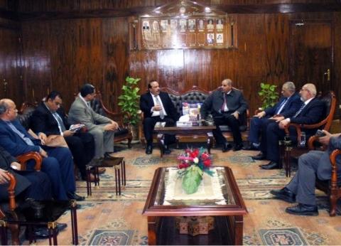 """بالصور  رئيس جامعة طنطا يستقبل رئيس """"الأزهر"""""""