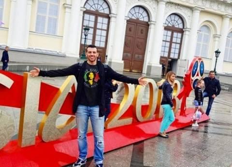 "بالفيديو| رامي رضوان من روسيا: ""مشجعو مصر في شوارع موسكو"""