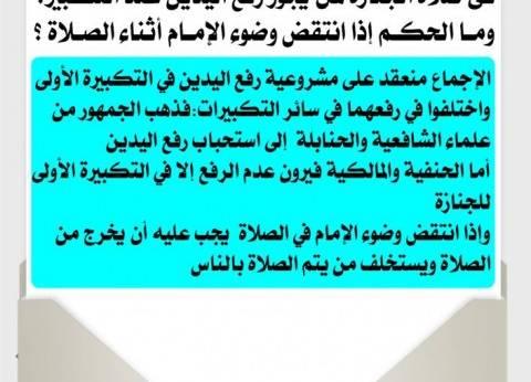 """""""البحوث الإسلامية"""" يوضح أحكام رفع اليدين بتكبيرات صلاة الجنازة"""